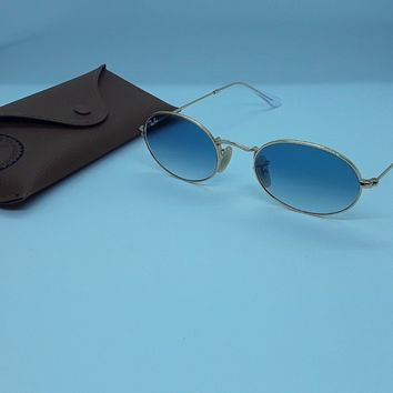 Ray Ban RB3547-N grad blue gold tone size51 authentic designer sunglasses