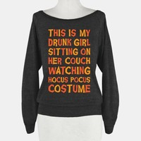 Drunk Girl Sitting On Her Couch Watching Hocus Pocus Costume