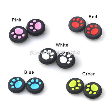 2pcs Cat Claw Design Anti-slip Silicone Thumb Stick Grips Caps For Sony PS3 PS4 XBOX ONE 360 Game Controller
