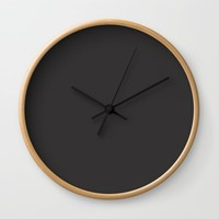 Midnight Black Wall Clock by spaceandlines