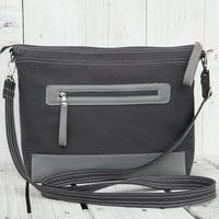 Tote bag Weekender bag Messenger bag Diaper bag canvas bag grey two tone bag Macbook bag Laptop bag