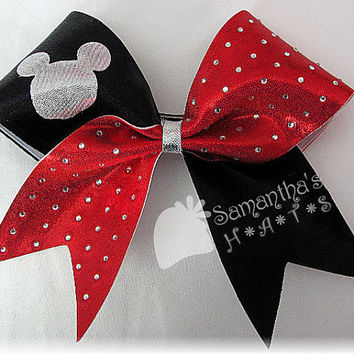 WORLDS inspired Cheer Bow  Made to order in your by SamanthasHats