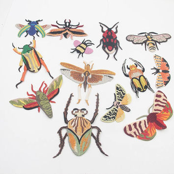 1 Set New Insect Patch, Ladybird Embroidery Patch,Cute Insect Embroidered Patch,Iron on Patch,Embroidered Patch for Garment