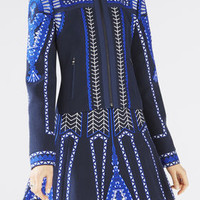 Dark Blue BCBG Damon Embroidered Jacket