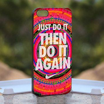 Nike Just Do It Aztec, Print on Hard Cover iPhone 5 Black Case