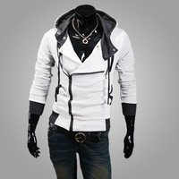 Hooded Jacket Casual Winter Jackets  sportswear Assassins Creed Men's Clothing Hoodies Sweatshirts