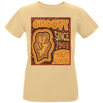 Milestone Birthday Groovy Since 1969 Haight Ashbury Womens T Shirt
