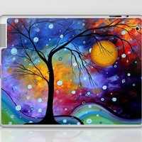 """""""Winter Sparkle"""" Original Whimsical Abstract Landscape Art by MADART Laptop & iPad Skin by Megan Aroon Duncanson ~ MADART   Society6"""