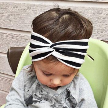 Baby Girl Headbands Kids Infant Striped Turban Baby Cute Hairband Hair Accessories Bandeau Knot Headband