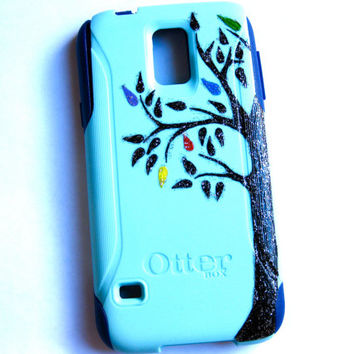 Galaxy S4 Otterbox Case, Otterbox Samsung Galaxy S4 Case Custom,tree Glitter S4 Case