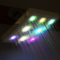 LED Shower Head Color Changing Chrome Bathroom Bath Rain Style Water Saving:Amazon:Home Improvement