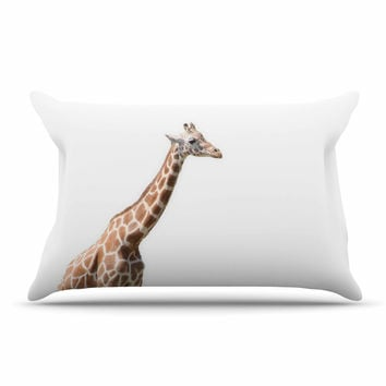 "Sylvia Coomes ""Giraffe"" Animals Photography Pillow Sham"