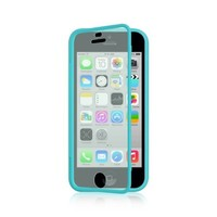Dream Wireless Wrap-Up with Screen Protector Case for iPhone 5C - Retail Packaging - Blue