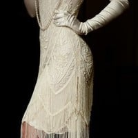 The Charleston Cream Bone: 1920's Flapper Dress