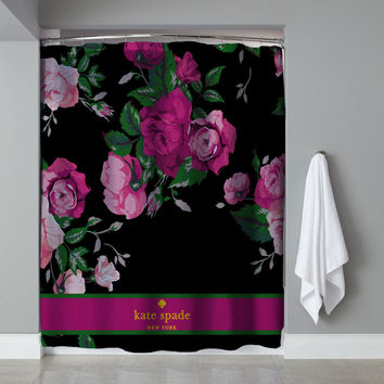 "Best Cheap Pink Floral Rose Kate Spade Exclusiv Design Shower Curtain 60""x72"""