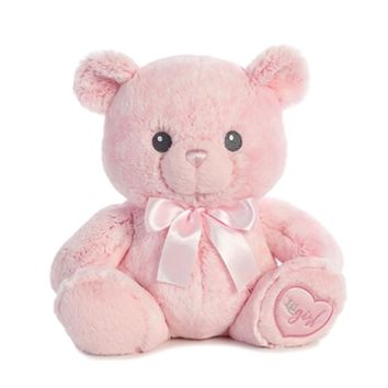 Lil' Girl the Baby Safe Plush Pink Teddy Bear by Aurora
