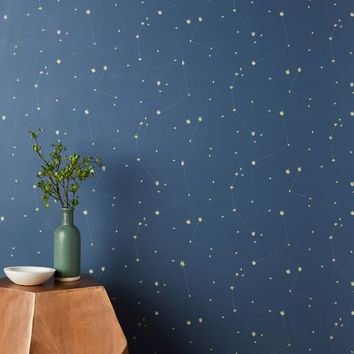 Chasing Paper Constellation Map Wallpaper - Navy