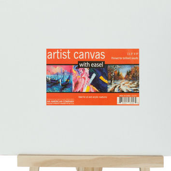 small artist canvas with wooden easel set Case of 4