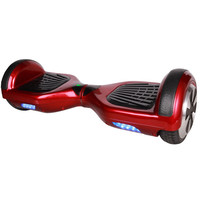 Electric hover board with anti-slip pedals