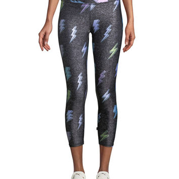 Terez Tall Band Printed Capri Leggins