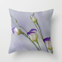 Blue Field Daisy Throw Pillow by Fran Walding | Society6