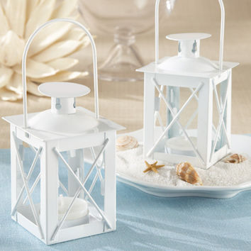 White Miniature Lantern Centerpiece