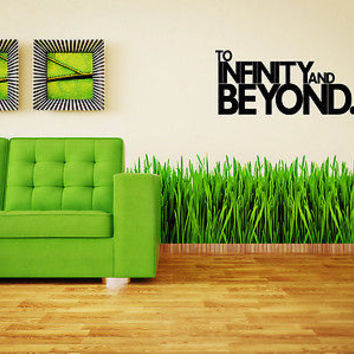 Infinity and Beyond quote wall sticker quote decal wall art decor 5439