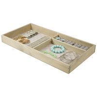 Three Section Wooden Jewelry Tray Wall Organizer