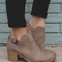 Spellbound Booties - Taupe