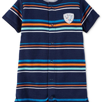 Carter's Striped Wild One Romper, Baby Boys (0-24 months) | macys.com