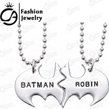 New BATMAN & ROBIN Lovable Best Friends Pendant Necklace