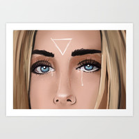 Girl Crying Art Print by lostanaw