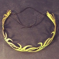 Long Leaves head wreath in green by TomBanwell on Etsy
