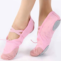 New Fashion Women's Soft Sole Ballet Dancing Yoga Shoes