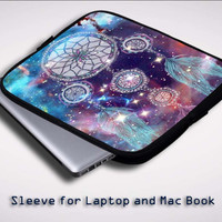 Dream Catcher in Galaxy  Z0228 Sleeve for Laptop, Macbook Pro, Macbook Air (Twin Sides)