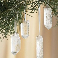 VivaTerra - Quartz Crystal Ornaments - Set of 12