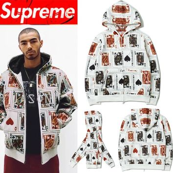 Supreme Hoodies Zippers Hats Jacket [11501030668]