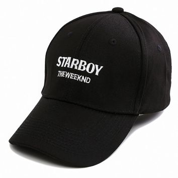 The Weeknd Starboy Hats Brand 100% Cotton Caps XO Dad Hat Embroidery Baseball Caps Snapback Hip Hop Caps Men and Women