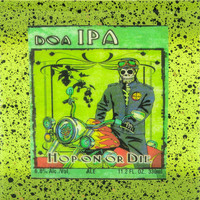 Dia De Los Muertos - Hop On Or Die - IPA - Handmade Recycled Tile Coaster