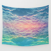 INSIDE THE CLOUDS Wall Tapestry by Andre Bender