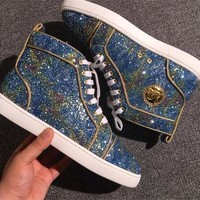 Christian Louboutin CL Style #2291 Sneakers Fashion Shoes Best Deal Online
