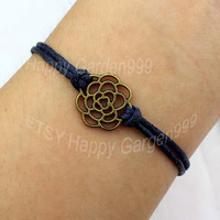 rose bracelet antique bronze bracelet best choose gift for friend -J682