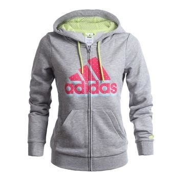 Original Adidas Women's Jacket Hooded sportswear free shipping