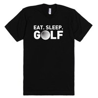 Eat Sleep Golf-Unisex Black T-Shirt