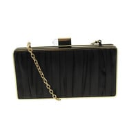 Sondra Roberts Womens Sateen Ruched Evening Clutch