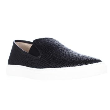 Vince Camuto Becker Woven Casual Slip On Sneakers, Black, 10 US / 40 EU