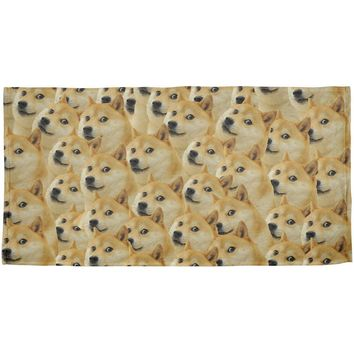 Doge Meme Funny All Over Beach Towel