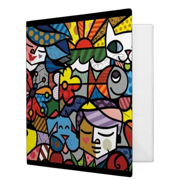 Colorful Animal Art 3 Ring Binder