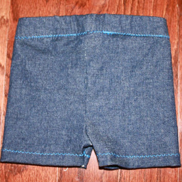 Blue Denim shorts size 6 months, indigo stretch denim for boy or girl