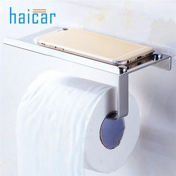 Stainless Steel Toilet Paper Holder WC Paper Holder Roll Tissue Toalete Paper Holder Storage Wall Mounted Bath Holder u70706